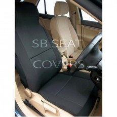 Anthracite Black Cloth Fabric Car Seat Covers