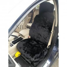 Car Seat Covers - Black Panther Faux Fur- Full Set