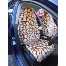 Car Seat Covers Giraffe Faux Fur Full Set
