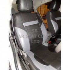 CAR SEAT COVERS, PVC LEATHER, BLACK / grey 59.99