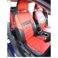 CAR SEAT COVERS, PVC LEATHER, BLACK / red 59.99