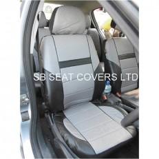 CAR SEAT COVERS, PVC LEATHER, GREY 59.99