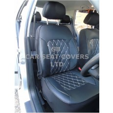 CAR SEAT COVERS, ROSSINI DIAMOND-BLACK, 2 FRONTS