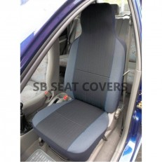 CHARCOAL GREY + BLUE PIPING SEAT COVERS