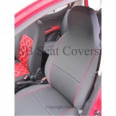 CHARCOAL GREY + RED PIPING SEAT COVERS