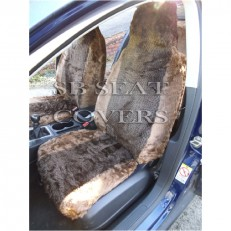 MINK DIAMOND FLUFFY FAUX FUR FULL SET CAR SEAT COVERS