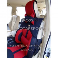 Car Seat Covers Rossini Mesh Sports BO-1 Red/Black