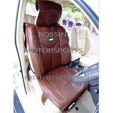 CAR SEAT COVERS ROSSINI YMDX BROWN LEATHERETTE