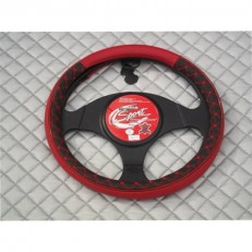 Steering Wheel Cover - Leatherette+Red Stitching SWP2 M