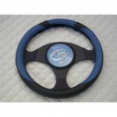 Steering Wheel Cover - Blue Leather Sports Design SW19 M
